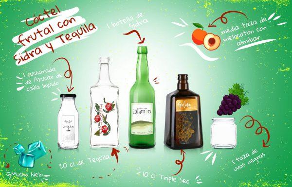 Coctel sidra y tequila